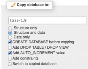 database backup using phpMyAdmin