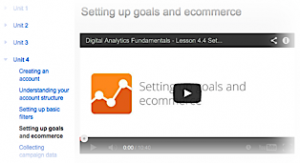 Unit 4/4 - Setting Up Goals and Ecommerce