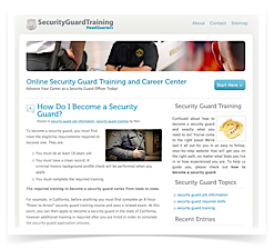 security guard training hq